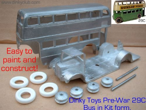 A DINKY TOYS COPY MODEL 29C PRE-WAR BUS  [ IN KIT FORM ]
